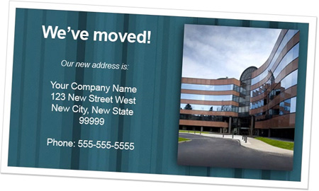 Sample of Address Change E-Card Insert