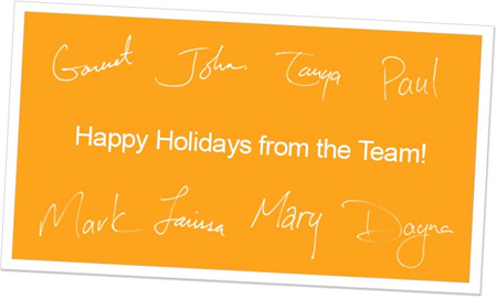 Sample of Signatures E-Card Insert